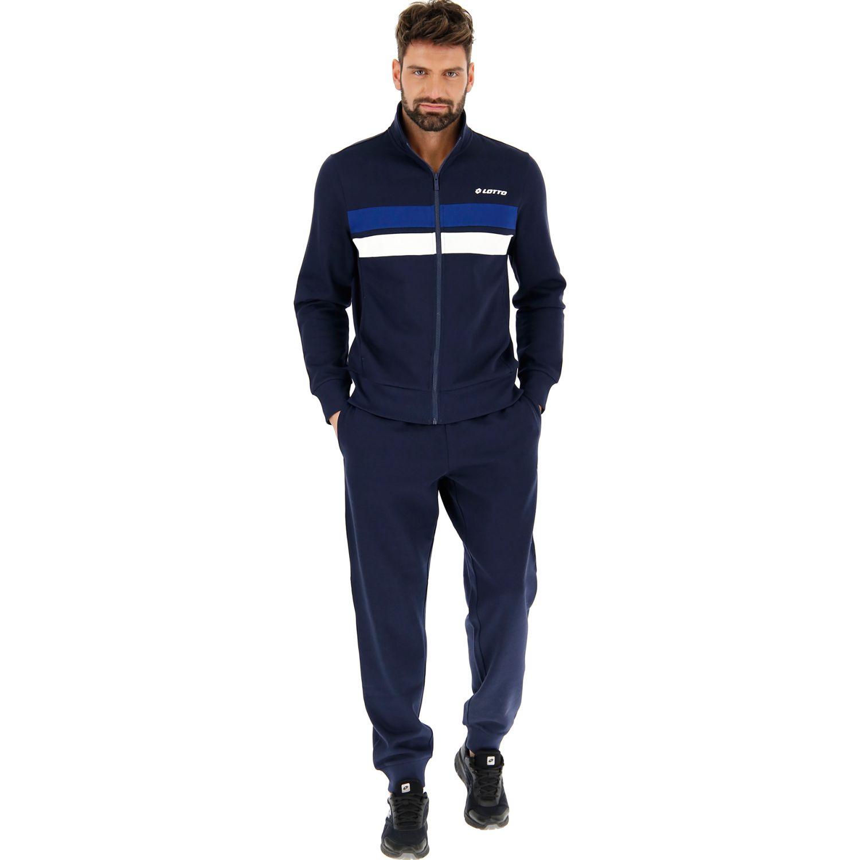 Lotto Suit Dual Bs Rib Fl Negro / azul Buzos Deportivos