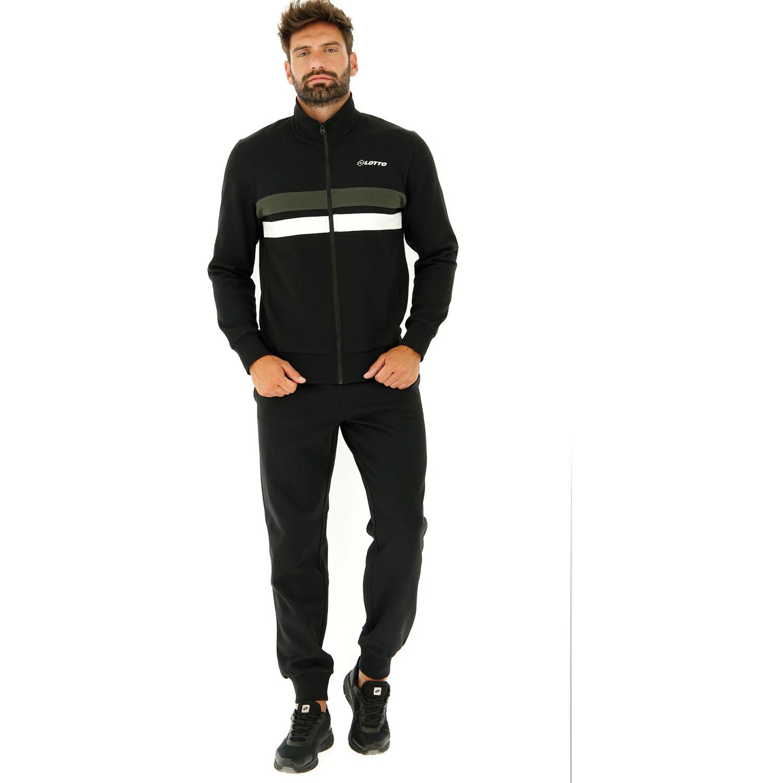 Lotto Suit Dual Bs Rib Fl Negro / verde Buzos deportivos