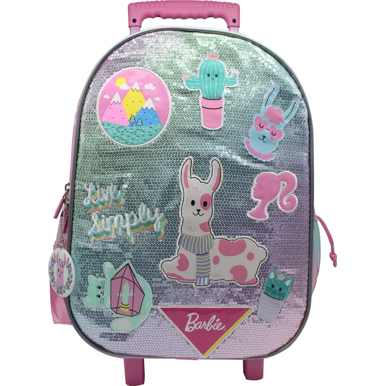 Barbie maleta con ruedas barbie Rosado / celeste mochilas