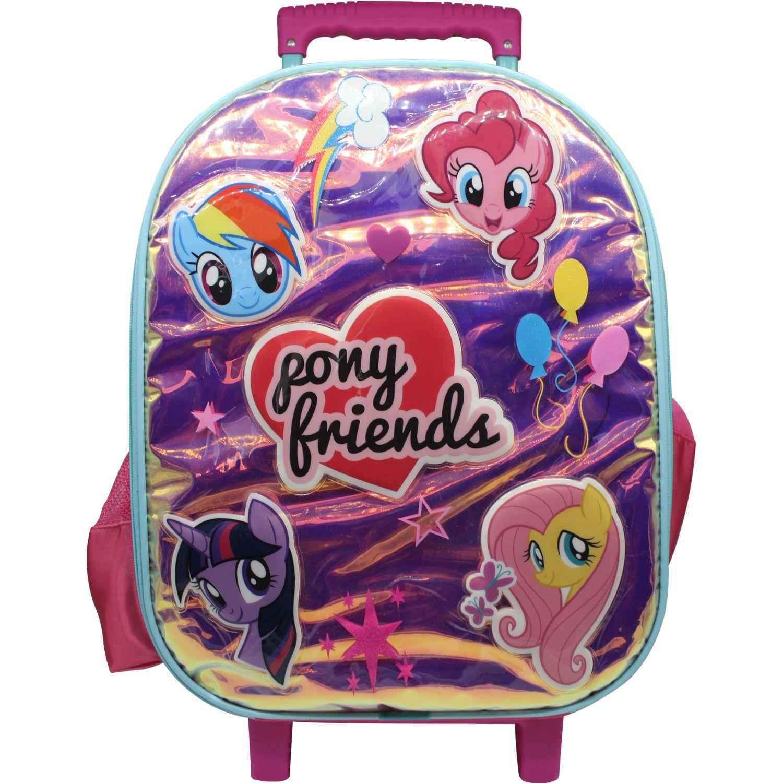 My Little Pony Maleta Con Ruedas My Little Pony Rosado / celeste Mochilas