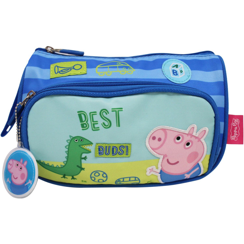Peppa Pig cartuchera peppa pig Celeste / rosado portalápices