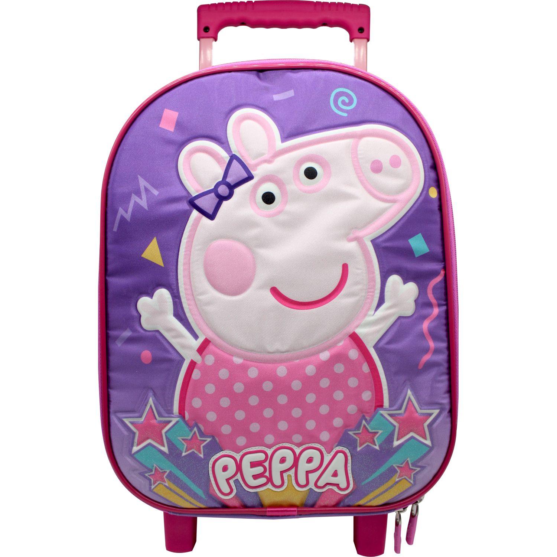 Peppa Pig Maleta Con Ruedas Peppa Pig Rosado / morado Mochilas