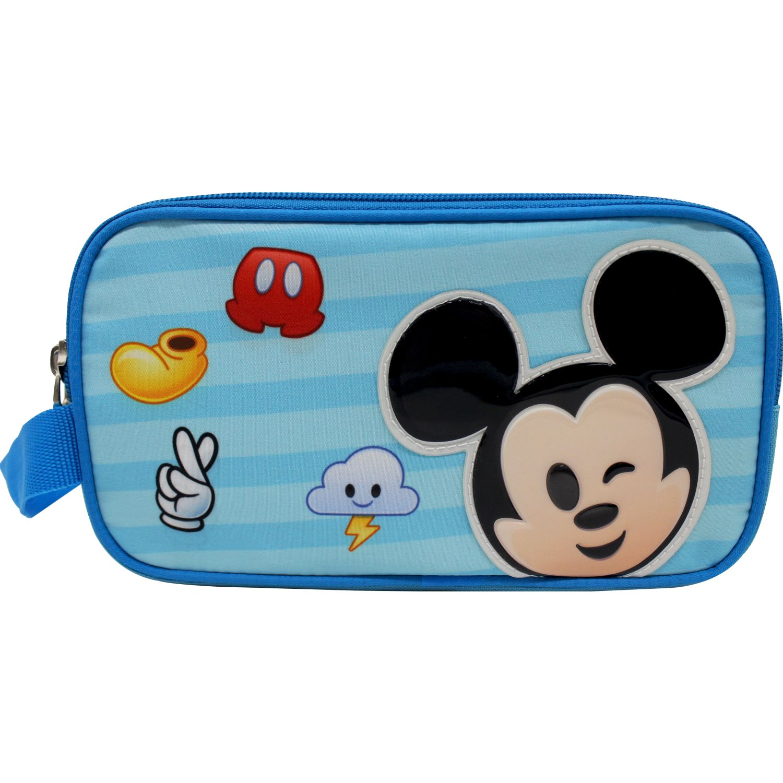Disney Cartuchera Disney Emoji Celeste / negro Portalápices