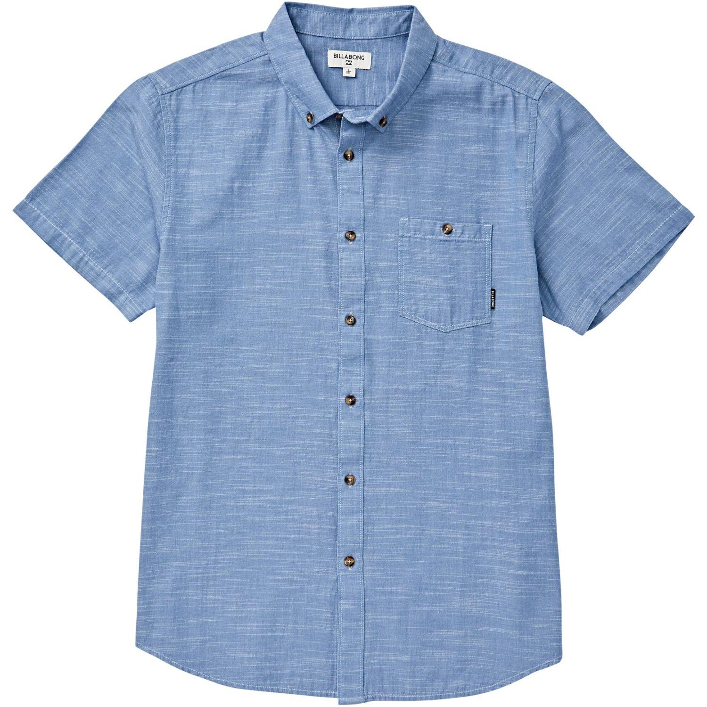 Billabong All Day Ss Azul Camisas de botones