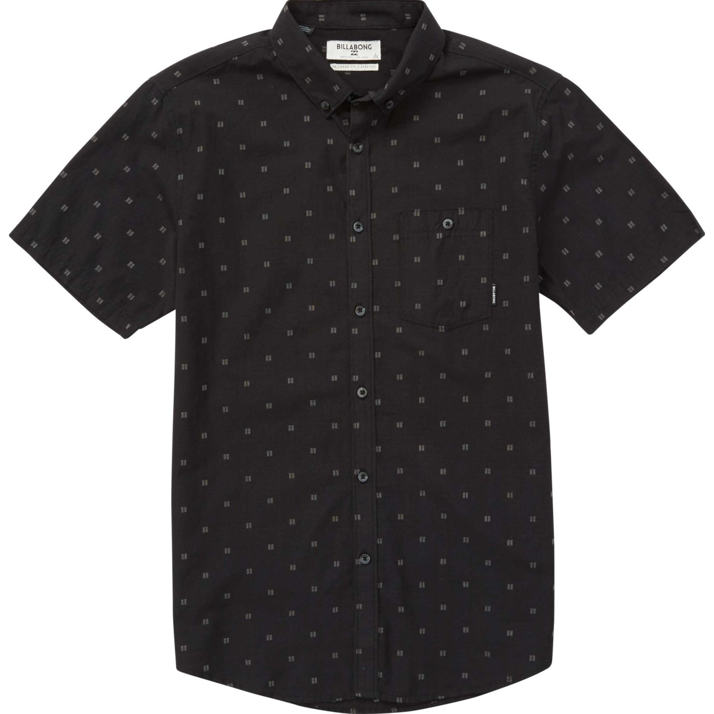 Billabong All Day Jacquard Negro Camisas de botones