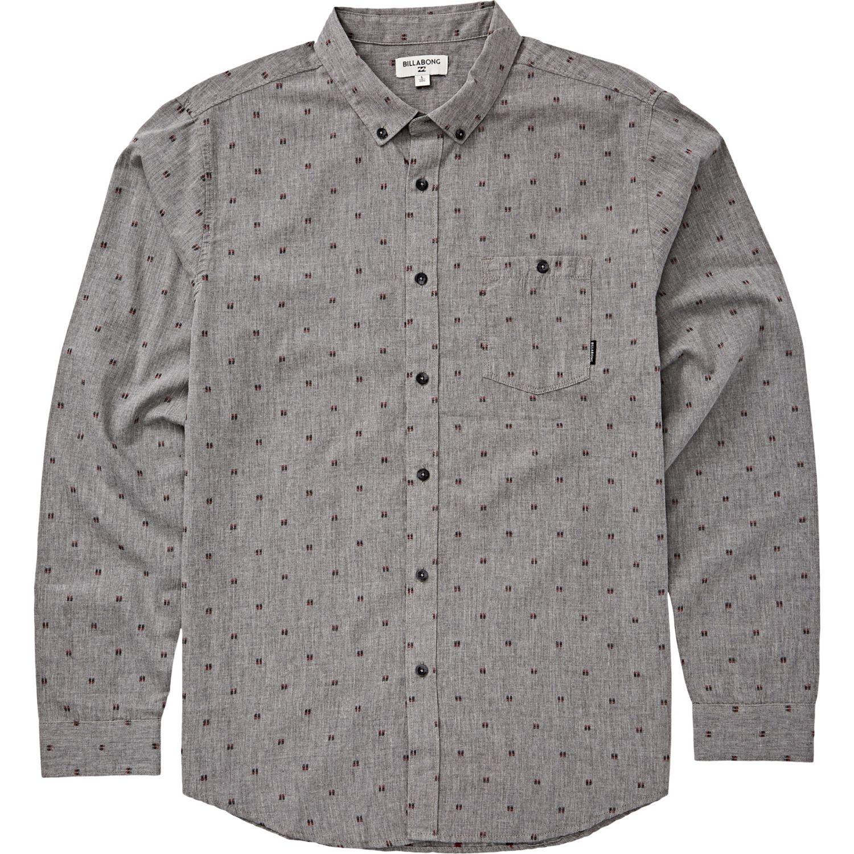 Billabong All Day Jaquard Ls Gris Camisas de botones