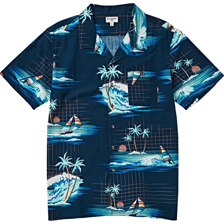 Billabong VACAY PRINT SS Navy Camisas de botones