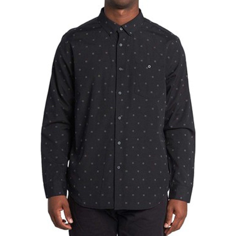 Billabong All Day Jaquard Ls Negro Camisas de botones