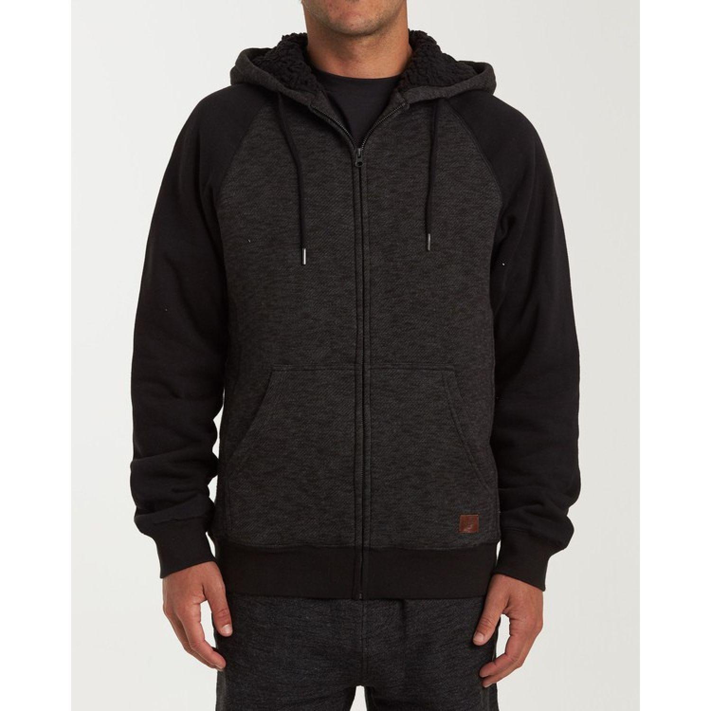 Billabong Balance Sherpa Zip Negro Hoodies y sudaderas de moda