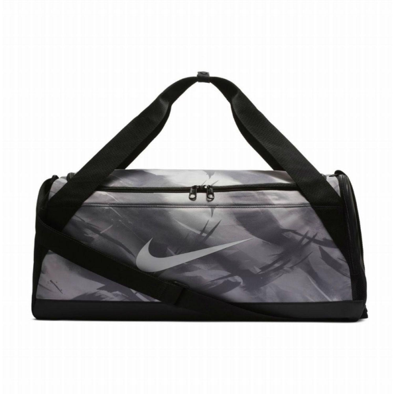 Nike nk brsla s duff aop Gris / negro Bolsos de gimnasio