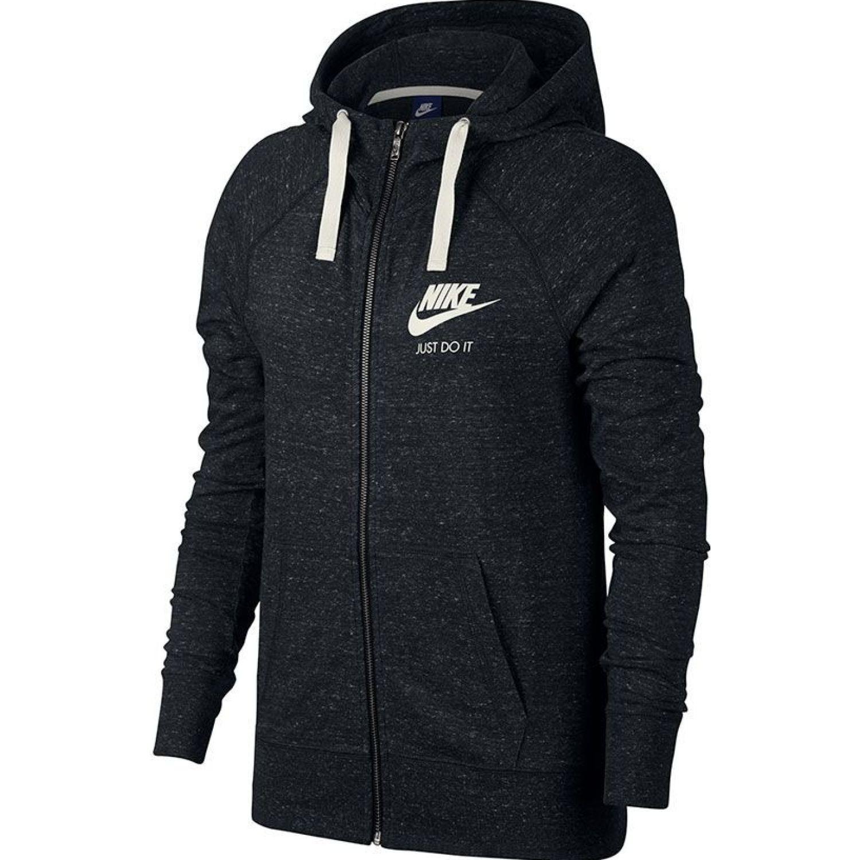 Nike W Nsw Gym Vntg Hoodie Fz Negro Casacas deportivas