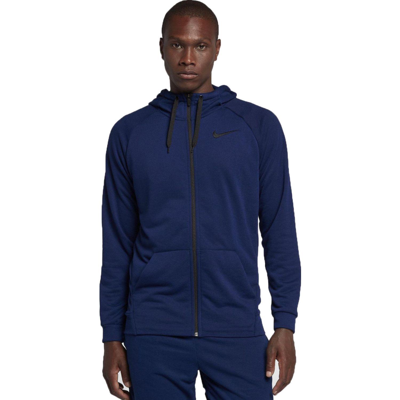 Nike m nk dry hoodie fz fleece Navy Casacas de Atletismo