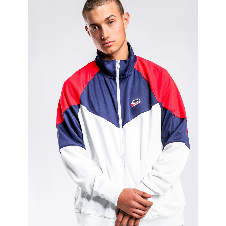 Nike m nsw he wr jkt pk Blanco / Navy Casacas de Atletismo