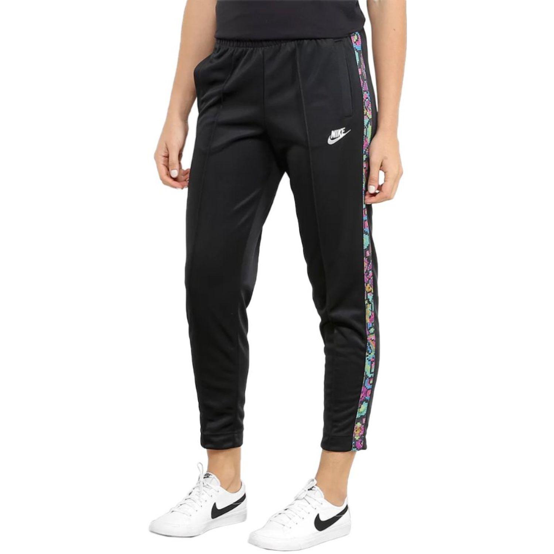 Nike w nsw ftr fem pant hw pk Negro / varios Pantalones deportivos