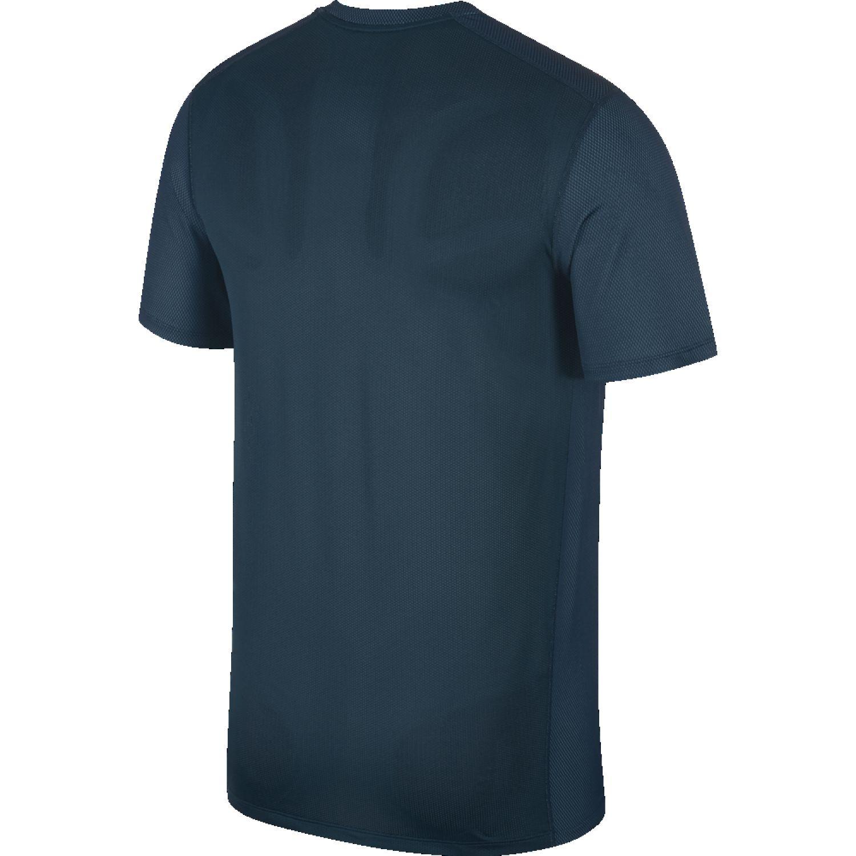 Nike m nk df brthe run top ss Acero Camisetas y Polos Deportivos
