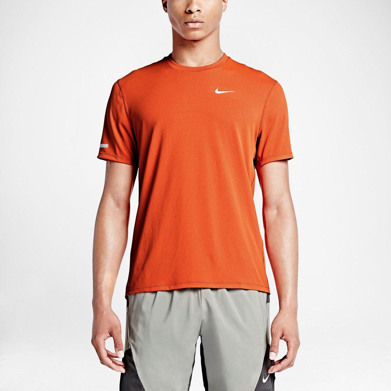 Nike m nk df brthe run top ss Naranja Camisetas y Polos Deportivos