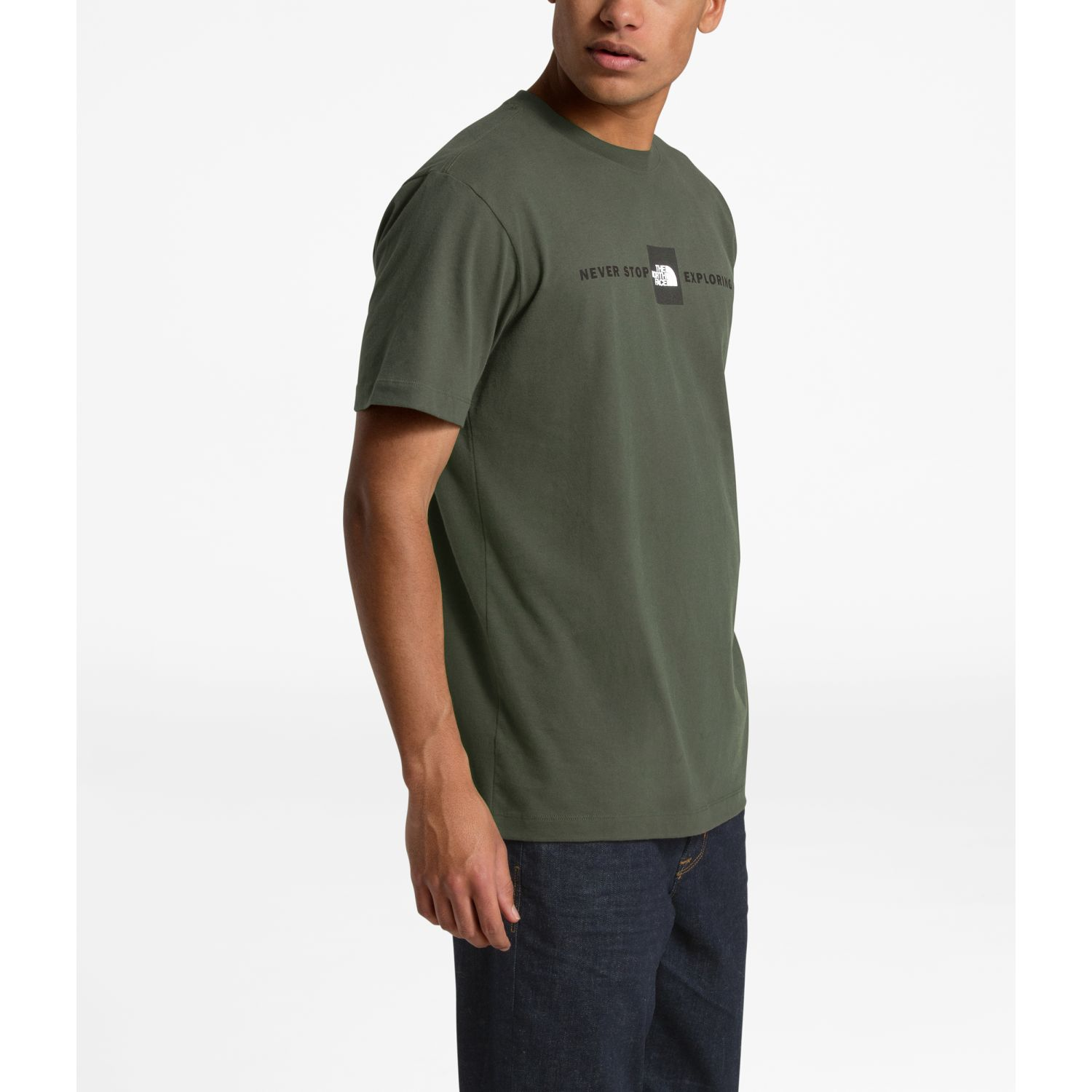 The North Face m s/s red's cotton tee Olivo Camisetas y Polos Deportivos
