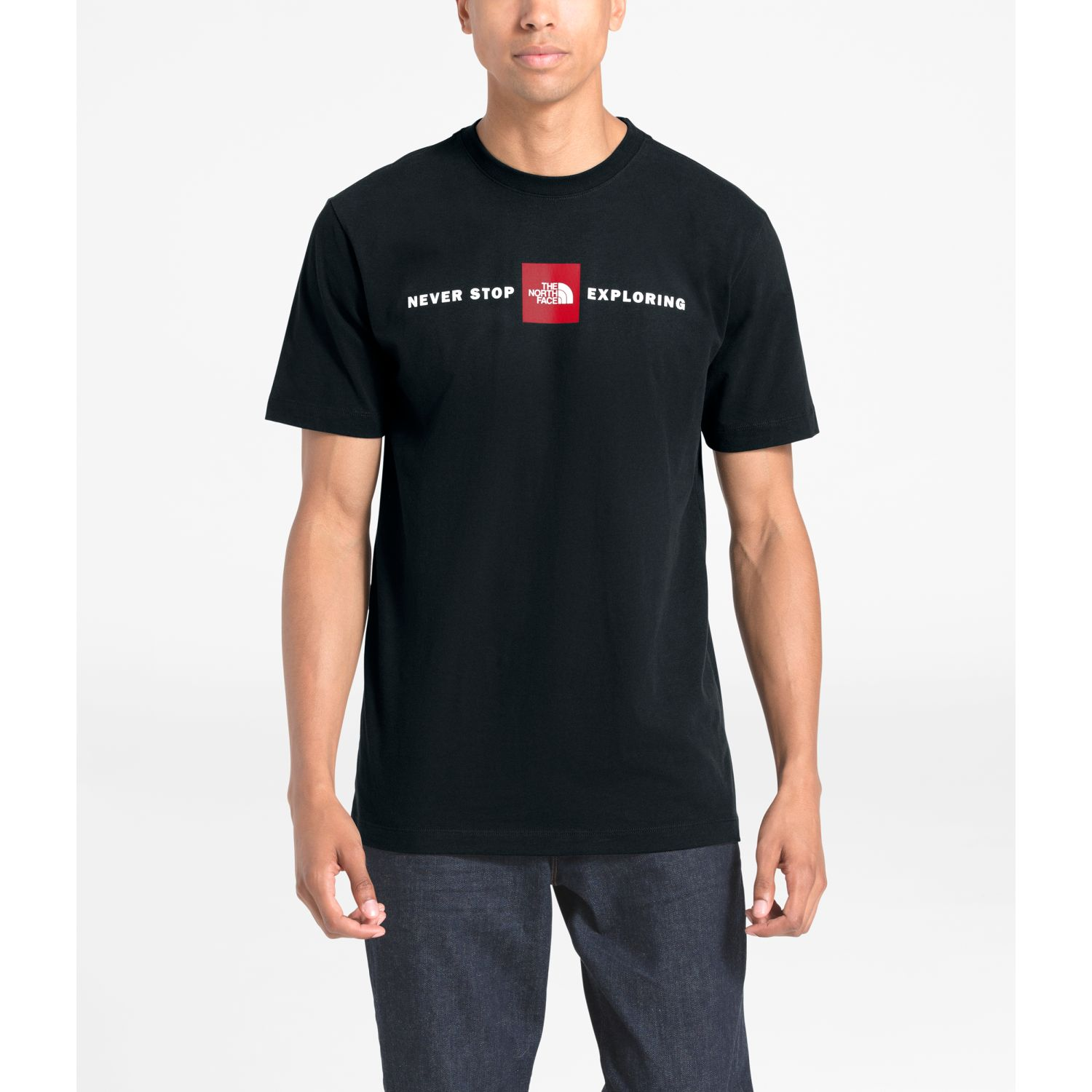 The North Face m s/s red's cotton tee Negro Camisetas y Polos Deportivos