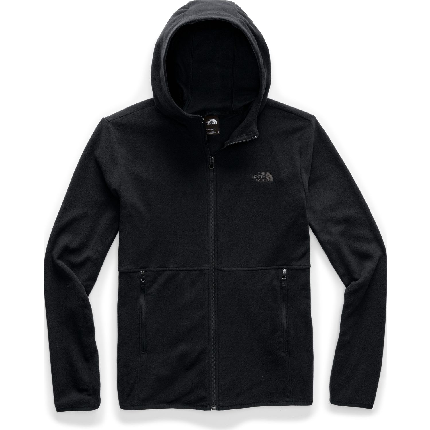 The North Face M TKA GLACIER FULL ZIP HOODIE Negro Pullovers
