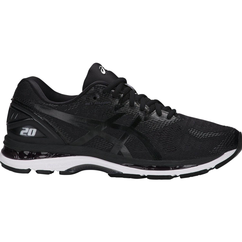 Asics gel nimbus 20 black white carbon Negro / blanco Running en pista