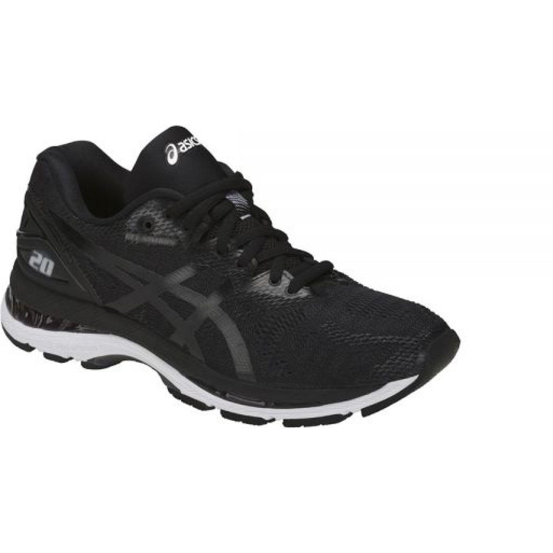 Asics Gel Nimbus 20 Black White Carbon Negro / blanco Correr por carretera