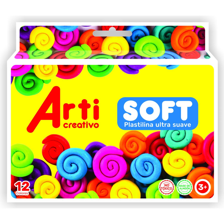 Arti Creativo Plastilina Ultra Suave Soft X 12 Varios Arcilla y plastilina