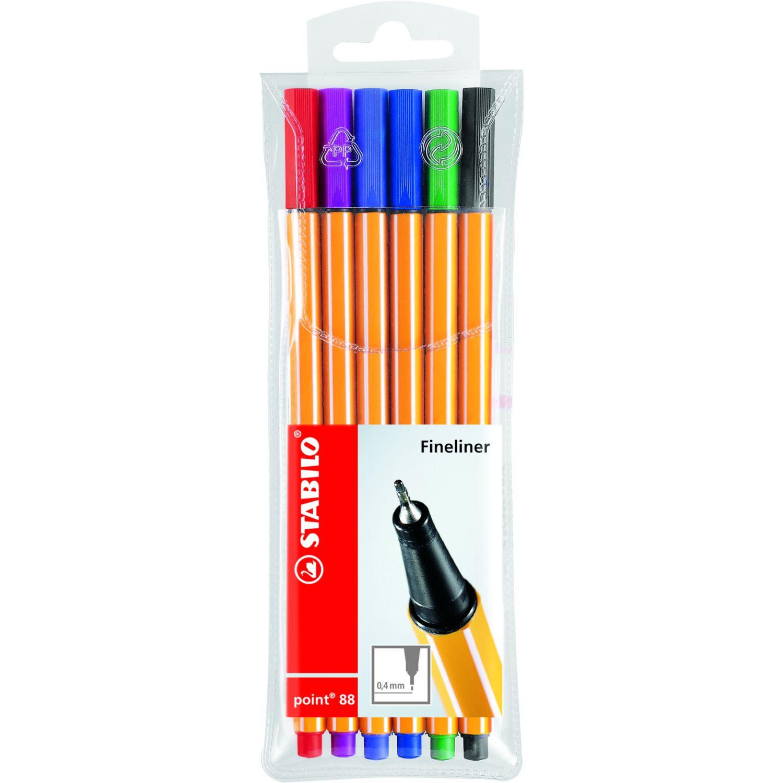 Stabilo STA Point 88 estuche x 6 und Varios bolígrafos