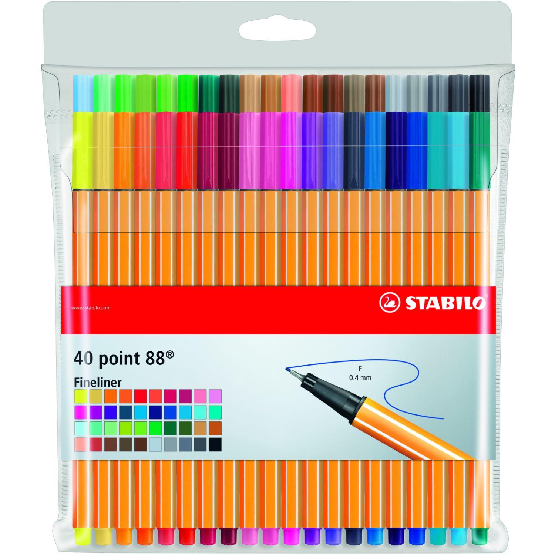 Stabilo sta point 88 estuche x 40 und Varios bolígrafos