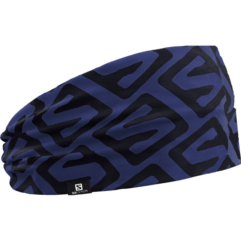 Salomon headband iso Azul / negro Vinchas