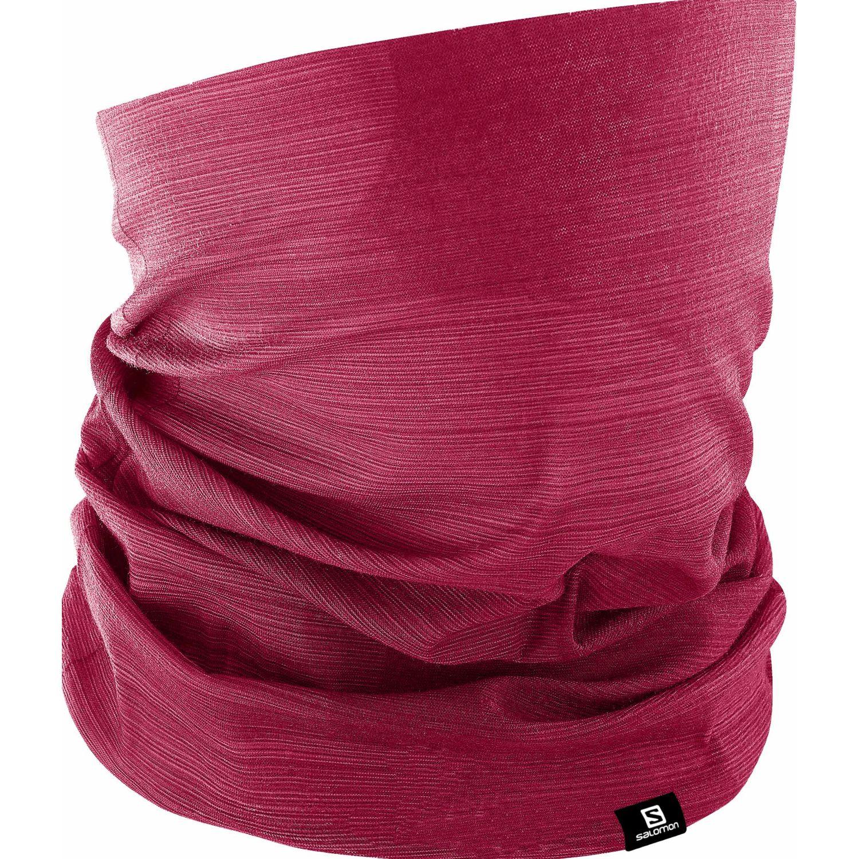 Salomon NECKTUBE FLUOR Rojo Gaiters de Cuello o Calienta Cuellos