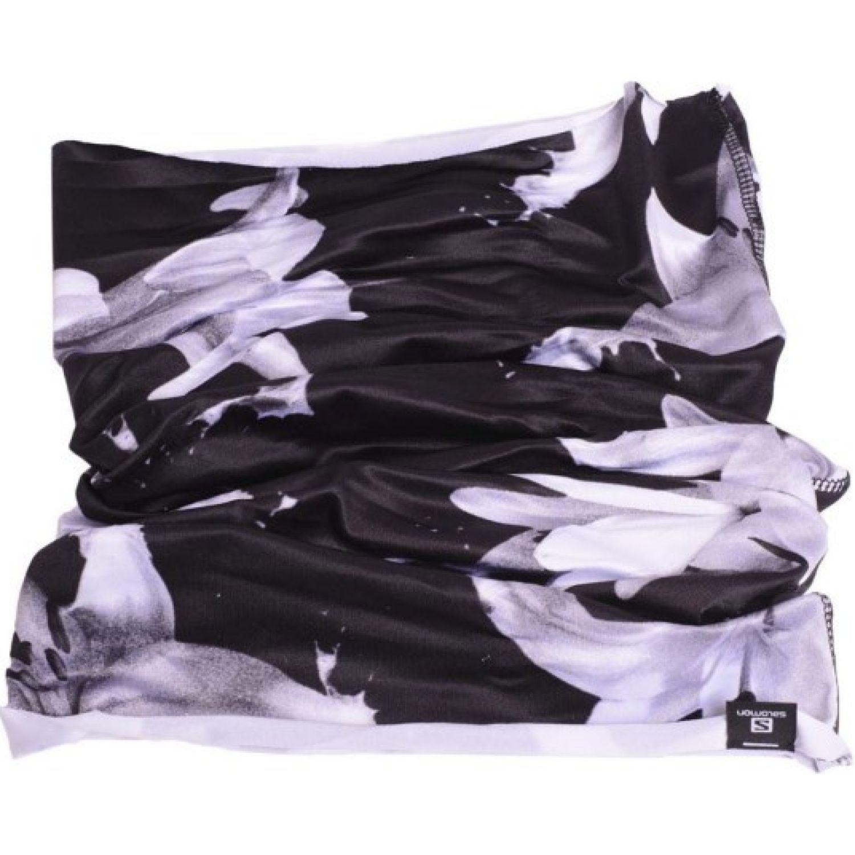 Salomon necktube flower iii Negro / blanco Gaiters de Cuello o Calienta Cuellos