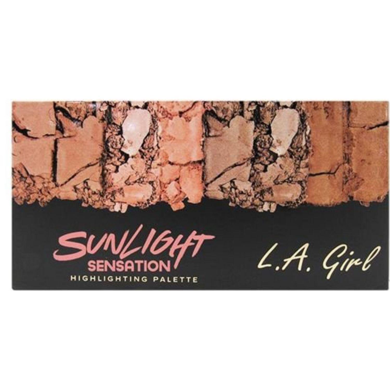 L.a. Girl Fanatic Blush Palette SUNLIGHT SENSATION Paletas de maquillaje