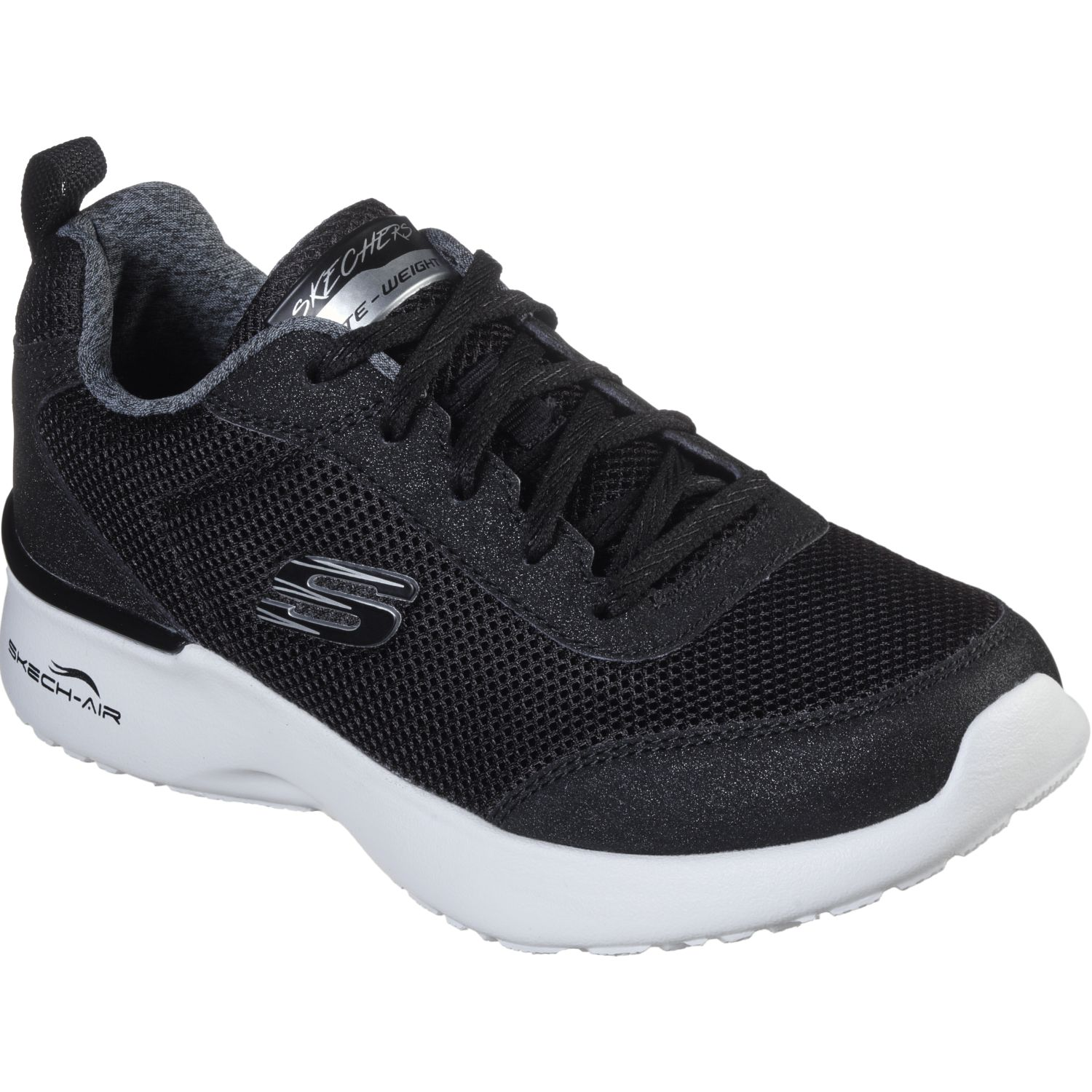 Skechers Skeck Air Dinamight Negro / blanco Running en pista