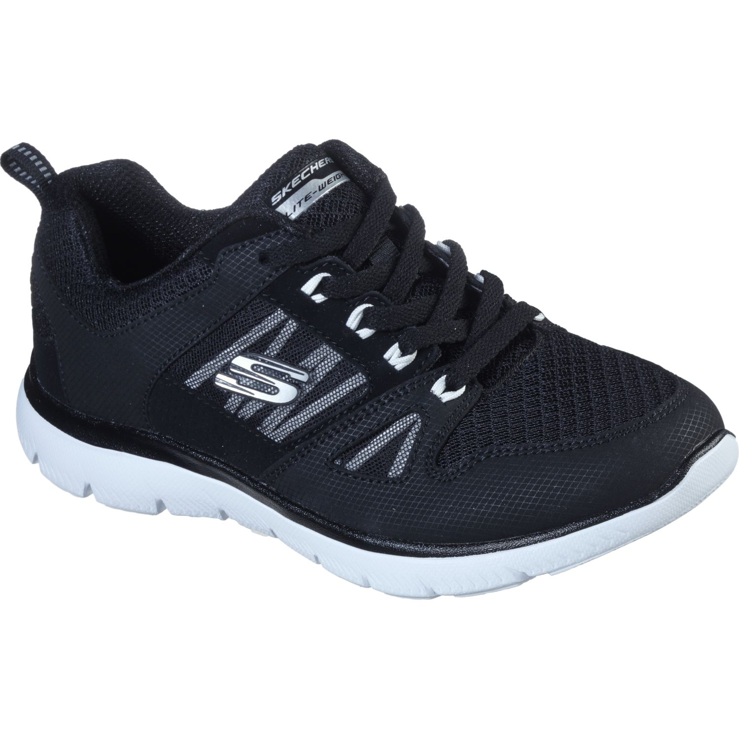 Skechers summit Negro Running en pista