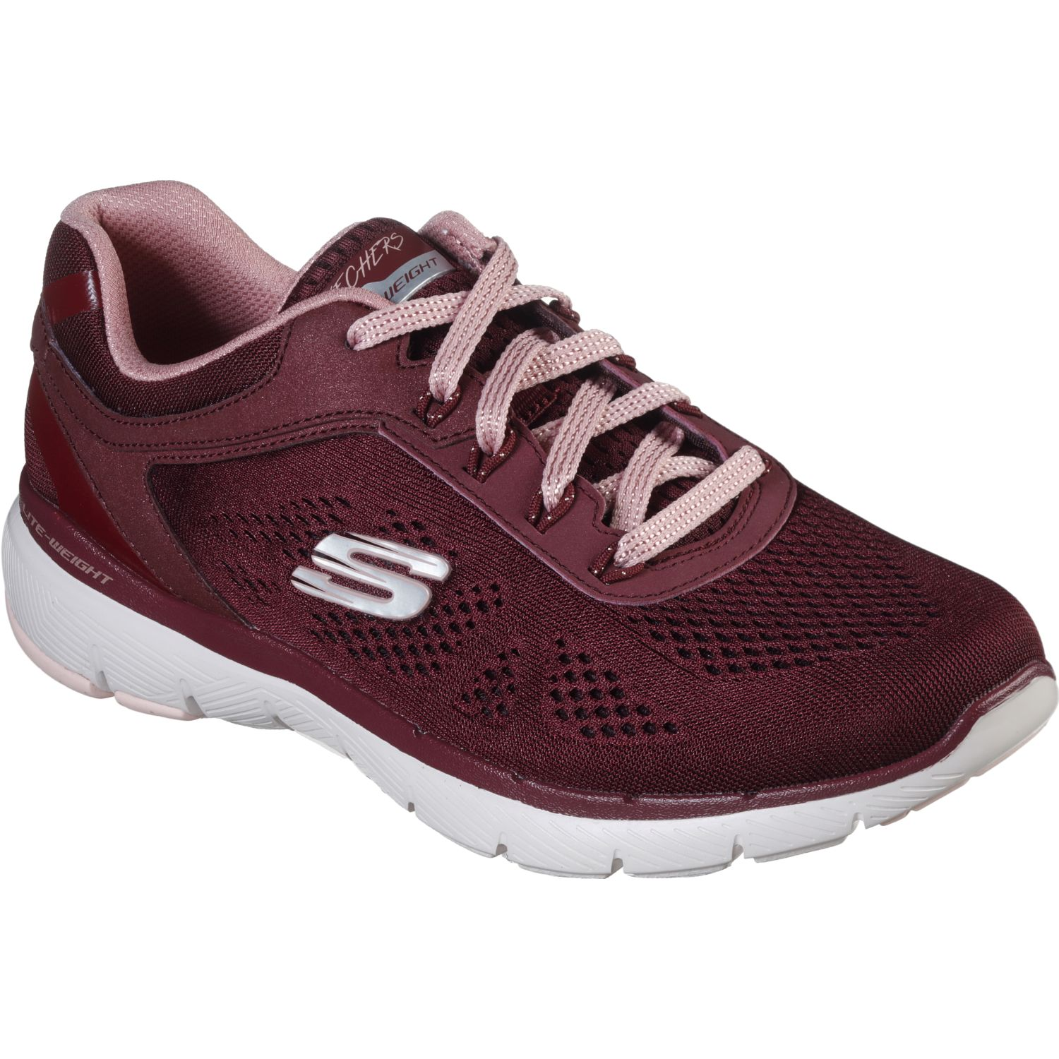 Skechers FLEX APPEAL 3.0 Burgundy Running en pista