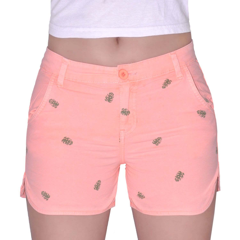 COTTONS JEANS Lauren Naranja Shorts
