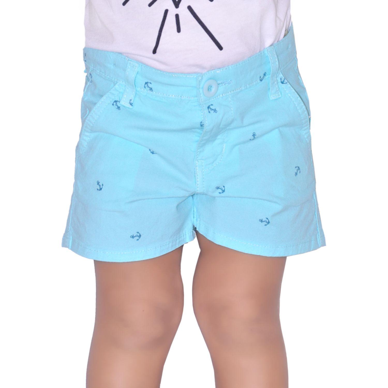 COTTONS JEANS Lucecita Aqua Shorts
