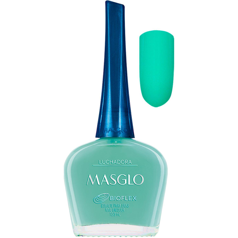 MASGLO Esmalte Luchadora 13,5 Ml  Masglo Azul Esmalte