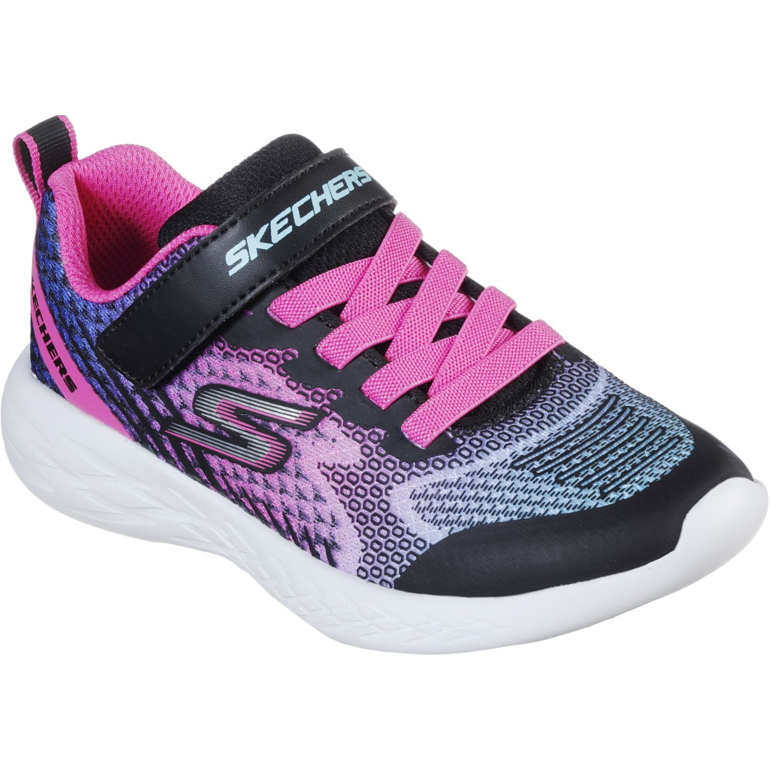 Skechers Go Run 600 Negro / rosado Walking