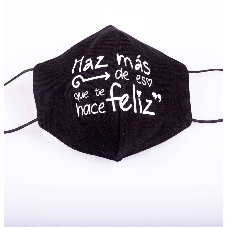 BE SIFRAH Mascarilla Feliz Negro Mascarillas