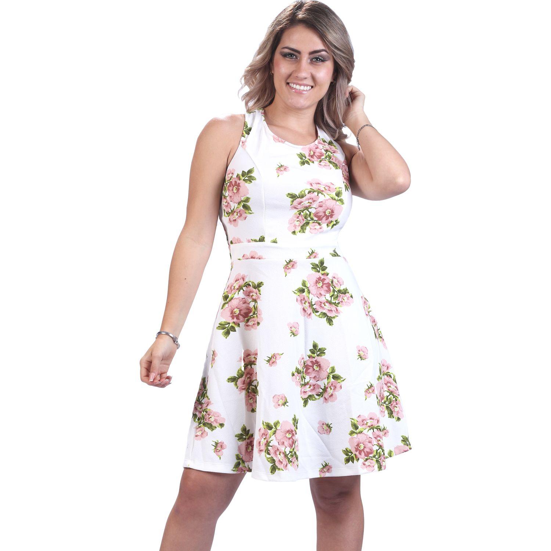 FORDAN JEANS Vestido Karla Con Tiras Cruzadas Crema Casual