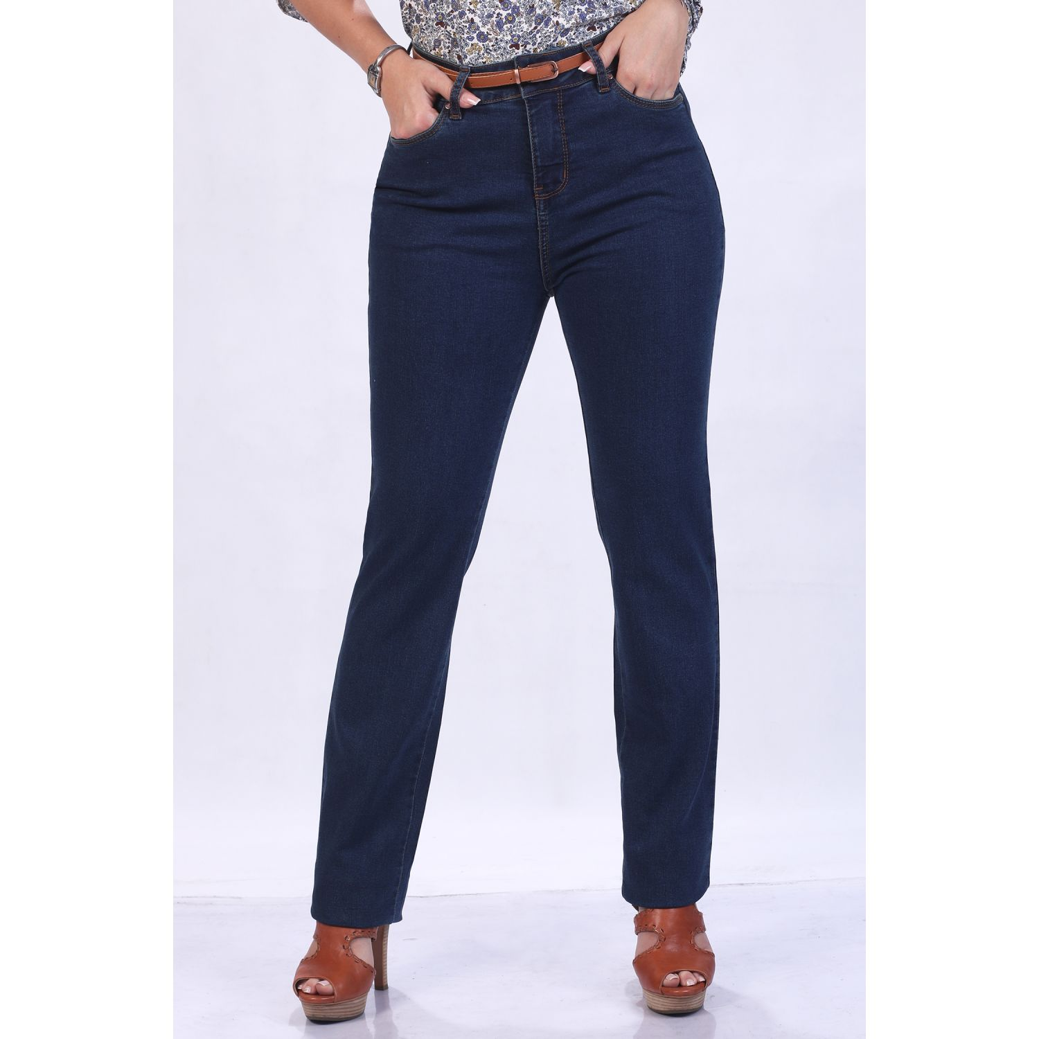 FORDAN JEANS Pantalon Cintura Clasico Laura Stretch LEAD DARK Casual