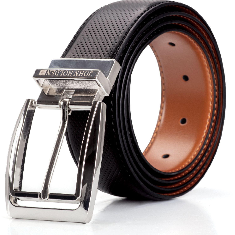 JOHN HOLDEN Correa Reversible Ruso NEGRO/TOFFE Correas y Cinturones