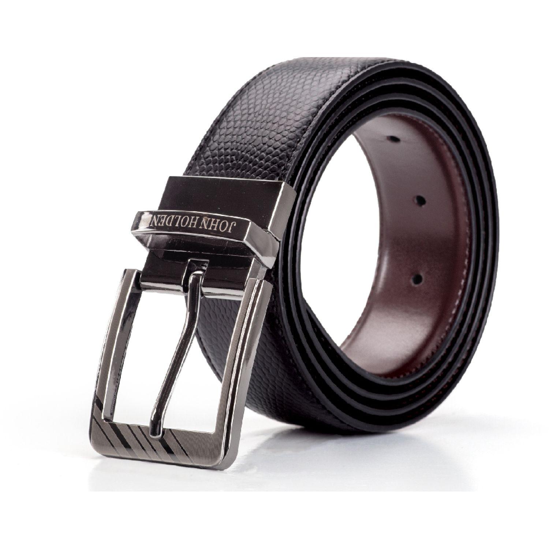 JOHN HOLDEN CORREA REVERSIBLE RUSSEL Negro / marrón Correas y Cinturones