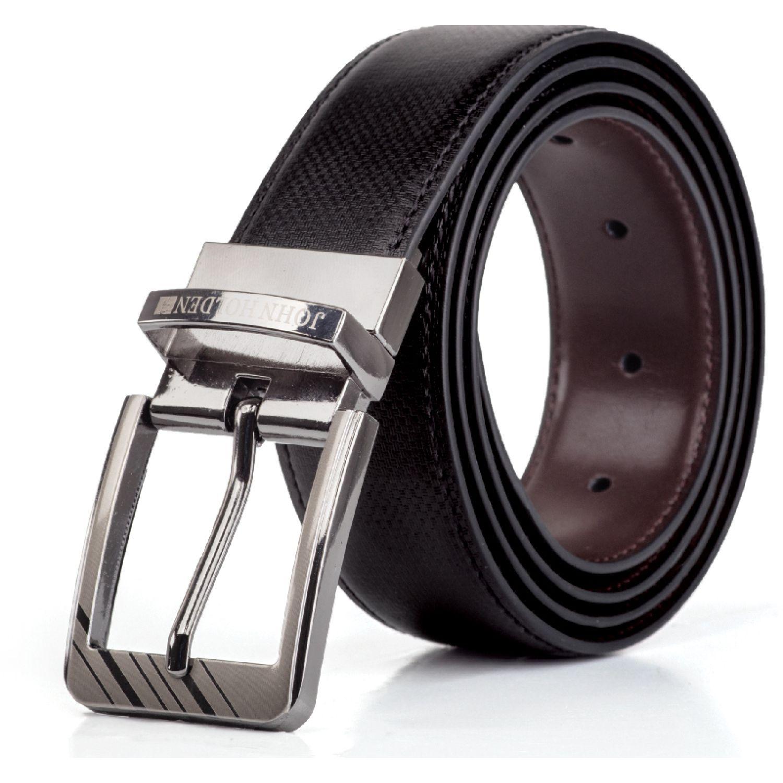 JOHN HOLDEN Correa Reversible Wilbert Negro / marrón Correas y Cinturones