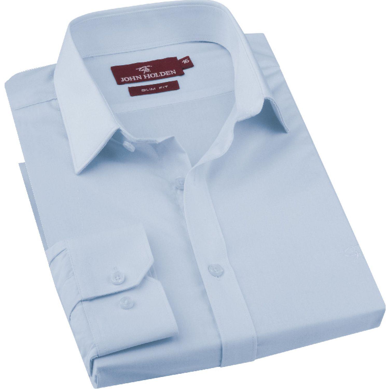JOHN HOLDEN Camisa M/L Color Entero Bruno Celeste Camisas de Vestir