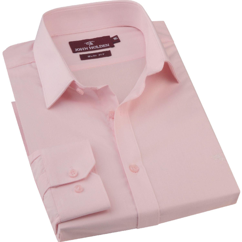 JOHN HOLDEN Camisa M/L Color Entero Bruno Rosado Camisas de Vestir