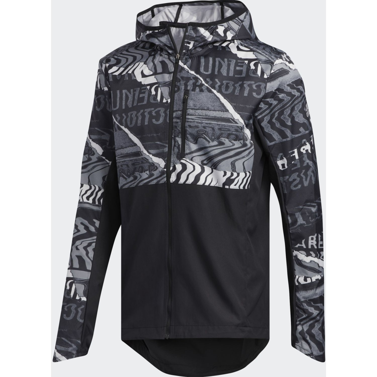Adidas Own The Run Jkt Gris / negro Casacas de Atletismo