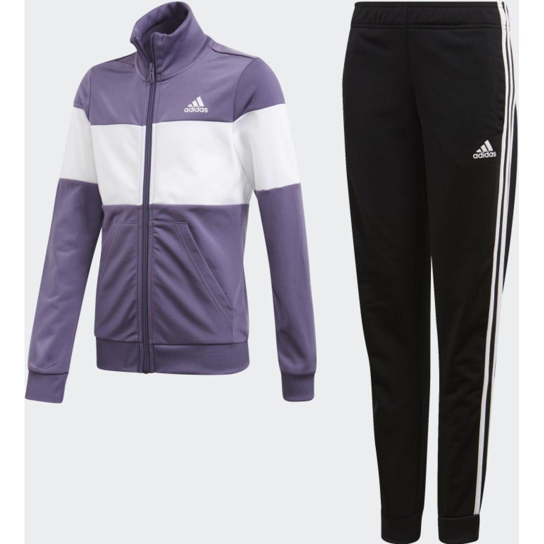 Adidas YG PES TS Lila / negro Buzos Deportivos