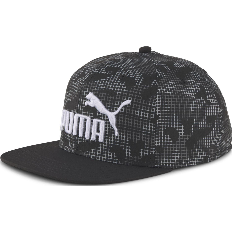 Puma Puma Flatbrim Cap Aop Negro Gorros de Baseball